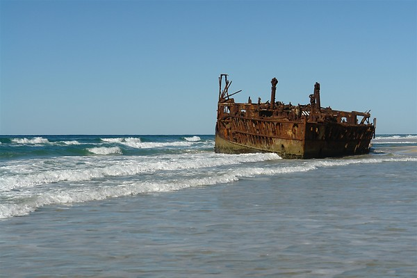 The SS Maheno - shipwrecked on Fraser Island since 1935.